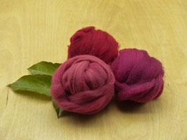 Wolle Kammzug - Farbbereich ROT