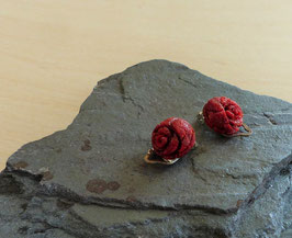 Koralle, rote Koralle, Ohrclip
