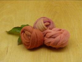 Wolle Kammzug - Farbbereich ORANGE