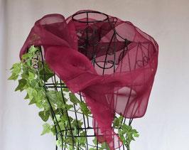 PURPUR - Schal aus Seidenorganza, 175 x 42 cm