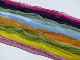 FEENSPIEL - Pflanzengefärbte Seidenbänder in Crincelchiffon