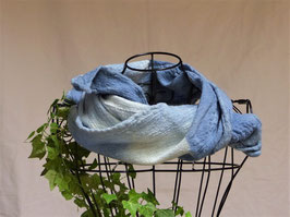 BLUES - Wollschal angefilzt, 120x30cm