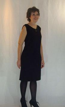 Robe crêpe de laine noir
