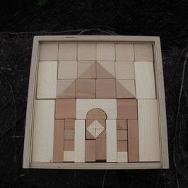 Bauholz in Holzkiste