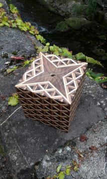 Stern Intarsien Holzbox