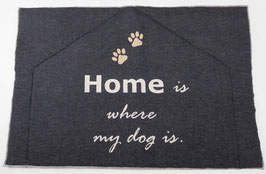 Flanell Hundematte Home is
