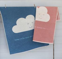 Flanell Kinderdecke ECO Wolken
