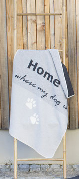 Flanell Hundedecke  Home is