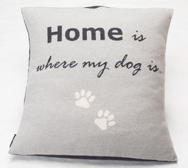 Flanell Hundekissen Home is