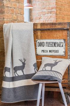 Flanell Decke JADE organic Hirsch
