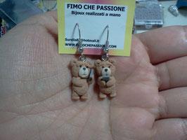 """orecchini con orso """"Ted"""""""