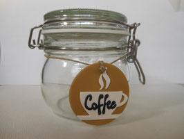 Barattolo targhetta COFFEE