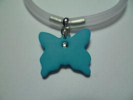 Bracciale silicone+farfalla azzurra