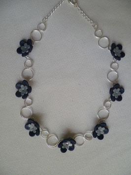 Collana Fiori Blu