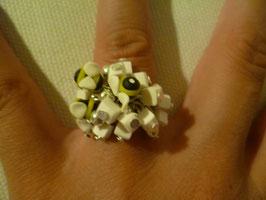 Anello api - quadratini bianchi