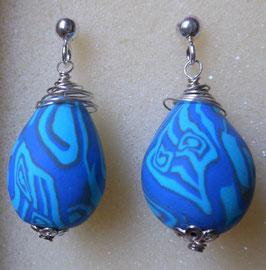 orecchini a goccia blu
