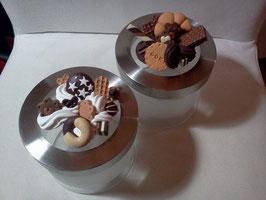 Barattolo panna e biscotti