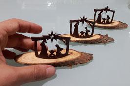 Mini presepe su legno