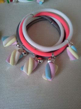 Bracciale silicone+marshmallow