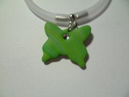 Bracciale silicone+farfalla verde