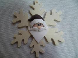 chicco di neve con babbo natale
