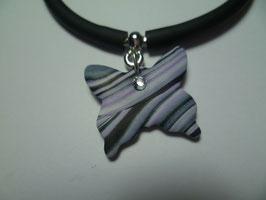 Bracciale silicone+farfalla melange
