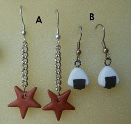 orecchini due modelli