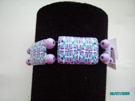 """bracciale """"rettangoli"""" con filo siliconico"""