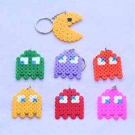 Schlüsselanhänger - Bügelperlen - Pac-Man