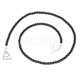Maisie Black 4mm - BH-Schmuckträger aus schwarzen Glasperlen