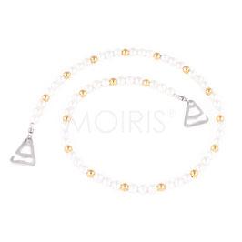 Willow Gold- BH-Schmuckträger aus weißen und goldfarbenen Perlen