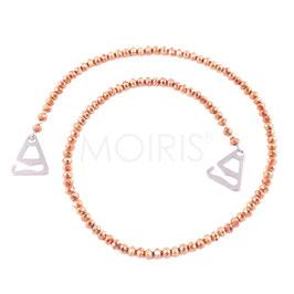 Scarlett Roségold 4mm - BH-Schmuckträger mit facettierten Perlen roségold