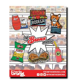 The Bronx Bodega Hard Enamel Pin 6-Pack
