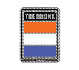 Bronx Color Flag Holographic Sticker