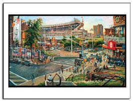 Yankee Stadium IV Poster by Daniel Hauben