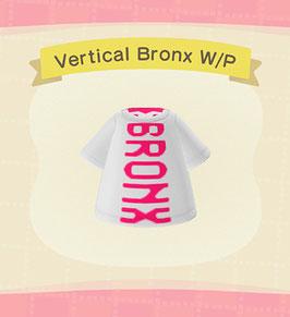 Digital Vertical Bronx T-Shirt COLOR: White & Pink