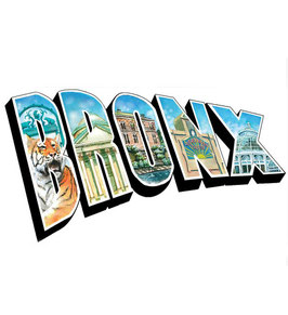 The Bronx Illustrated Postcard Magnet