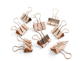 BINDER CLIPS COPPER