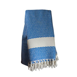 Plaid piqué [ECOBAIN] bleu