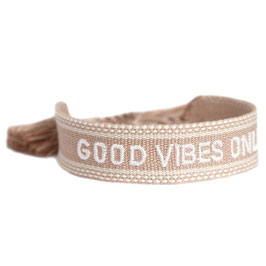 [LOVE IBIZA] GOOD VIBES ONLY BRACELET SAND