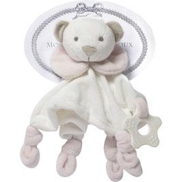 Toudoux jouet rose avec anneau de dentition