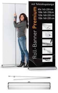 """Roll-Banner """"Premium"""" inkl. Druck"""