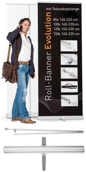 "Roll-Banner ""Evolution"" inkl. Druck"