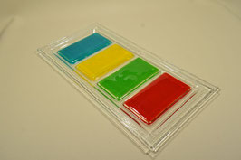 Plat de présentation rectangle 4 bandes