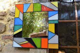 Miroir style Mondrian carré