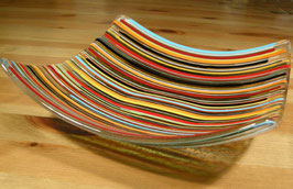 Coupe rayée baguettes multicolores