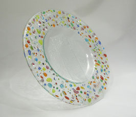 L'assiette ronde plumetis