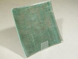 Coupe carrée striée bleu noir