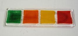 Repose cuillère 4 carreaux vert foncé orange jaune rouge
