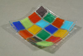 Vide-poche 16 carrés multicolores